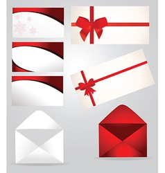 Christmas document templates vector image