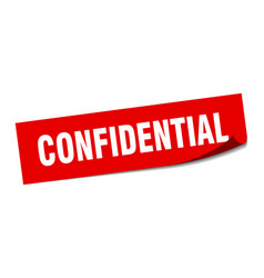 Confidential sticker confidential square isolated vector