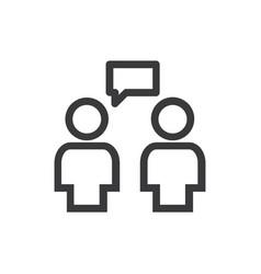 conversation icon vector image