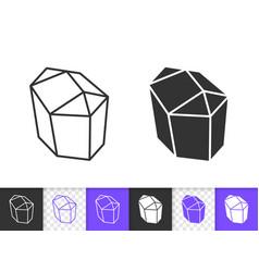 crystal simple black line icon vector image