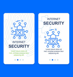 cyber security design with creative design vector image