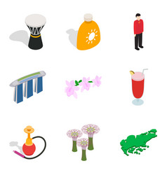 Discharge icons set isometric style vector