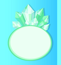 emeralds natural resources poster with oval frame vector image