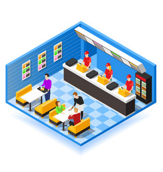 fast food isometric background vector image
