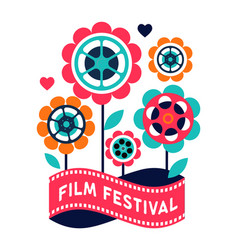 film festival cinema and movie poster creative vector image