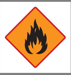 Flammable technical warning sign vector