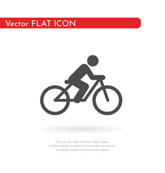 Flat cycling icon for web business finance and vector