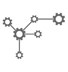 gear links flat icon symbol vector image