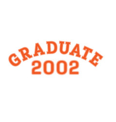 graduated in 2002 lettering for a senior class vector image