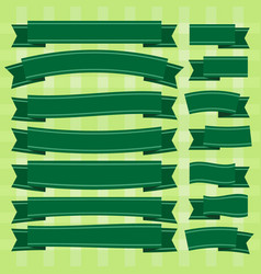 green ribbon vector image