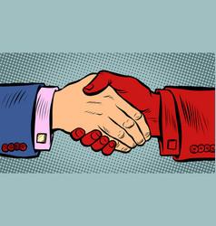 Handshake is dangerous during an epidemic vector