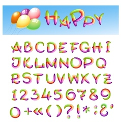 Happy alphabet vector
