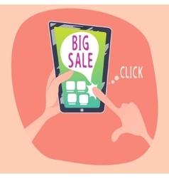 Human views online sale in smartphone vector