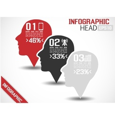 INFOGRAPHIC HEAD GREY vector image