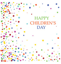 International children s day colorful background vector