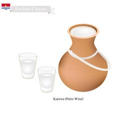 Karewe or Palm Wine Famous Beverage in Kiribati vector