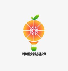 Logo orange balloon gradient colorful style vector