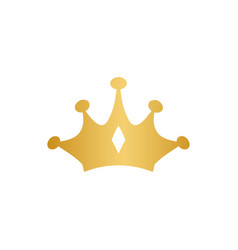 luxury crown gold logo design template isolated vector image