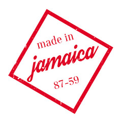 made in jamaica rubber stamp vector image