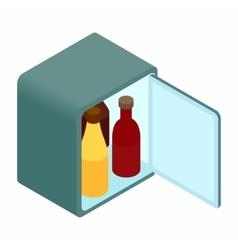Mini fridge isometric 3d icon vector image
