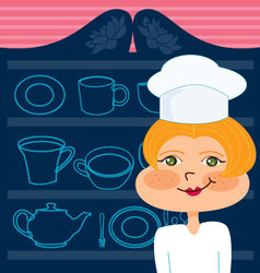 mom chef vector image