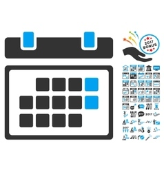Month Calendar Icon With 2017 Year Bonus vector