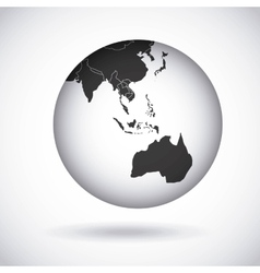 oceania continent design vector image