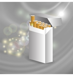 Open cigarette pack vector