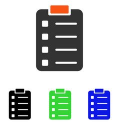 Pad form flat icon vector