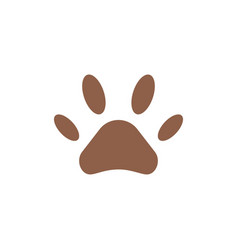 Paw line icon vector