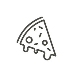 pizza icon outline slice food line pizza vector image