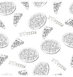 Pizza seamless vector
