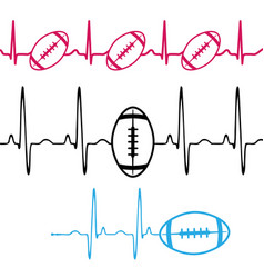 pulse american football set background vector image