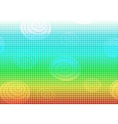 Rainbow mosaic frame vector
