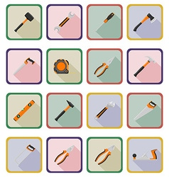 repair tools flat icons 20 vector image