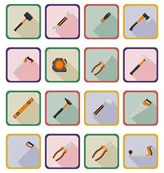 Repair tools flat icons 20 vector