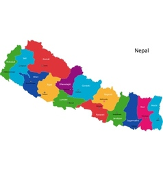 Republic of Nepal vector image