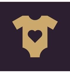 Romper suit icon design Shirt clothes Romper vector image