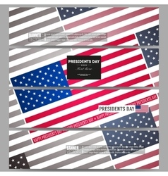 Set of modern banners Presidents day background vector image