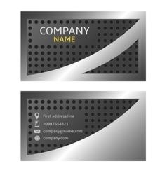 Silver card vector