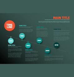 Simple timeline template vector