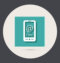 smartphone with the symbol mail vector image