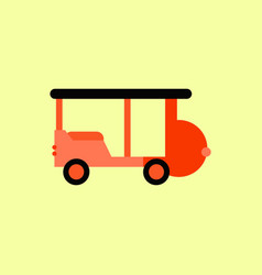 Stylish icon in flat style excursion car vector