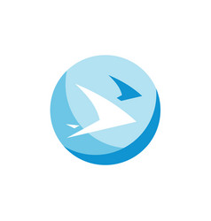 swallows fly abstract sign vector image