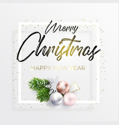 the black inscription and christmas wreath vector image