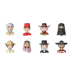 The human race icons in set collection for design vector