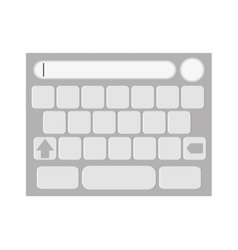 touchscreen keyboard icon vector image