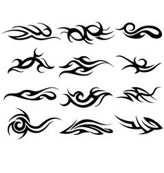 tribal element design vector image