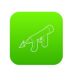 underwater speargun icon green vector image