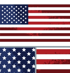 Vintage Distressed American Flag Background vector